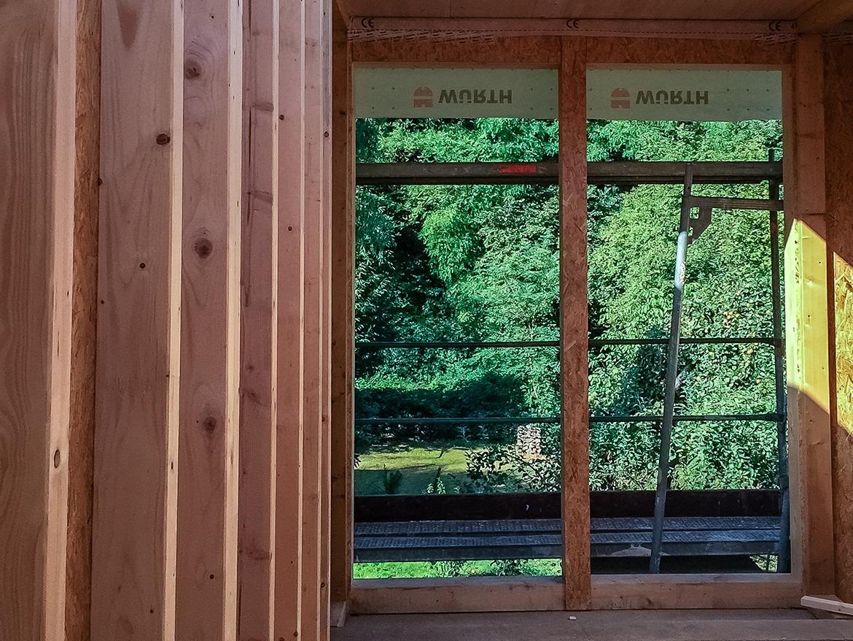 Fensteröffnung im Holzrahmenbau