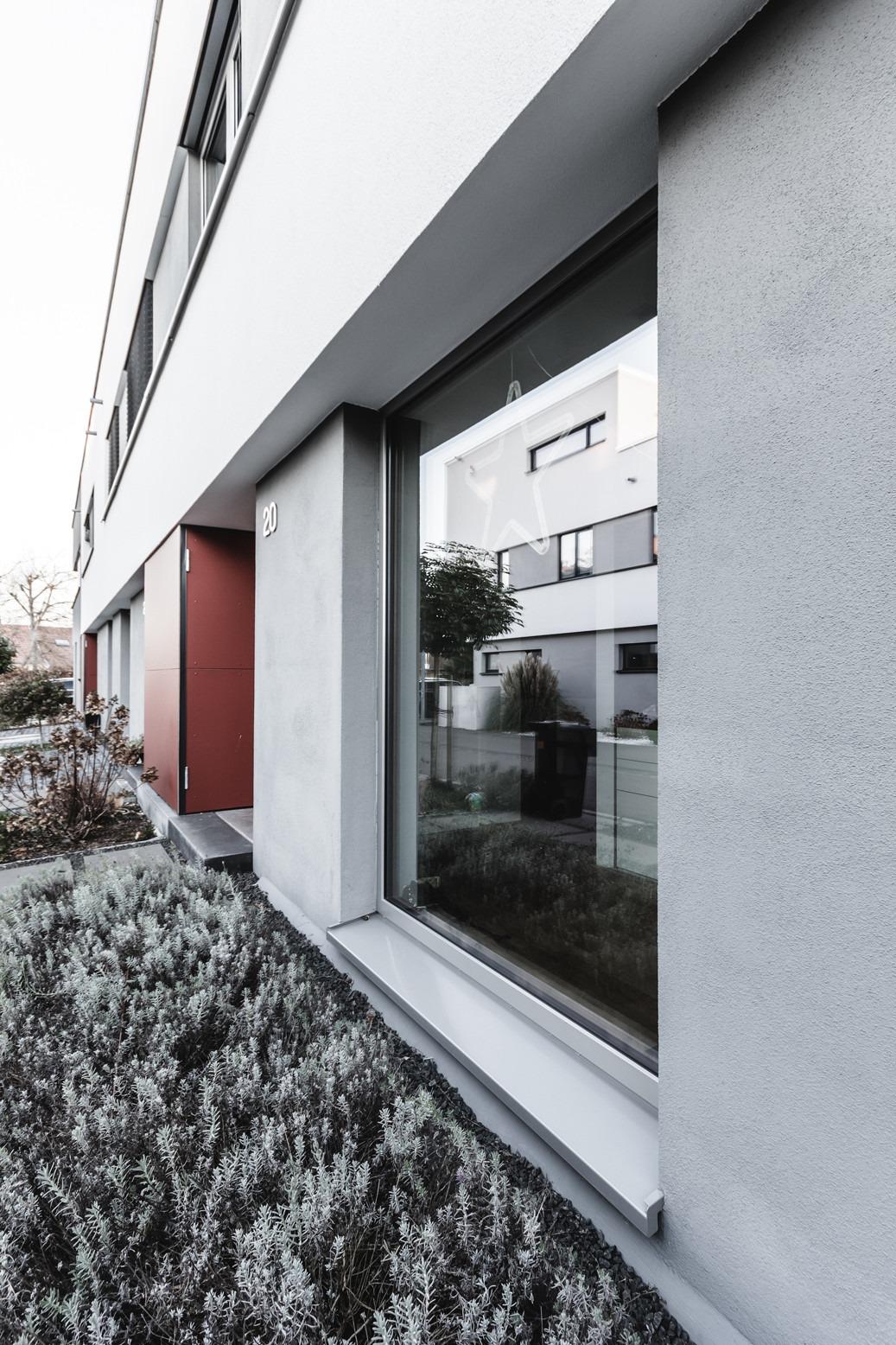 Fassadenansicht Reihenhaus - Bellevue 2.0